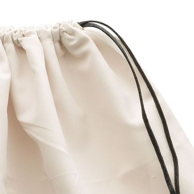 Satin dustbag with sliding drawstrings from 2 sides