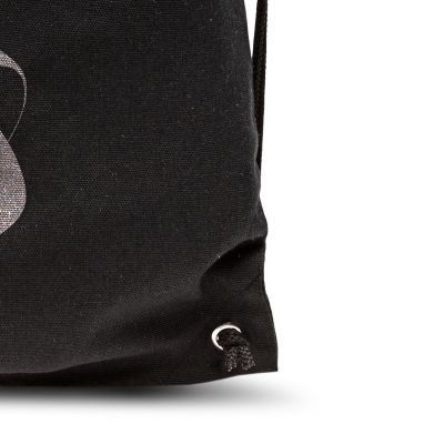 Canvas back pack with rope handles and eyelets