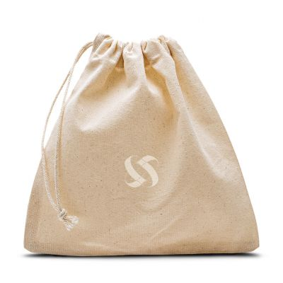 Plain cotton belt dustbag with sliding drawstring