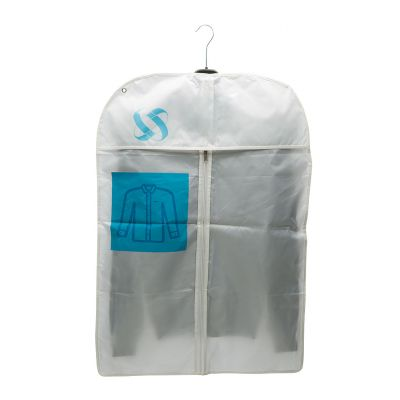 Nylon garment cover with zip and flap
