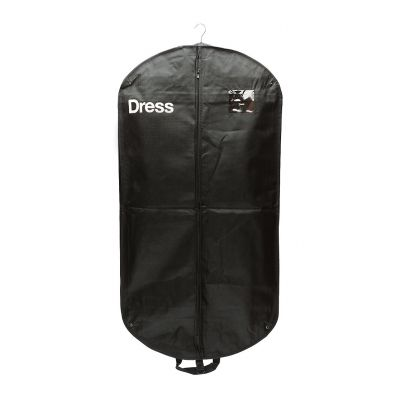Non woven garment cover with zip, window and handles