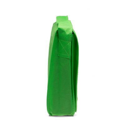 Non woven carrier bag with flap and extensible handle