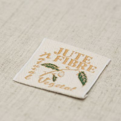Cotton embroidered label