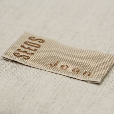 Embroidered gros grain label