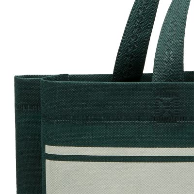 Non woven tote bag heat sealed with handles and gussets