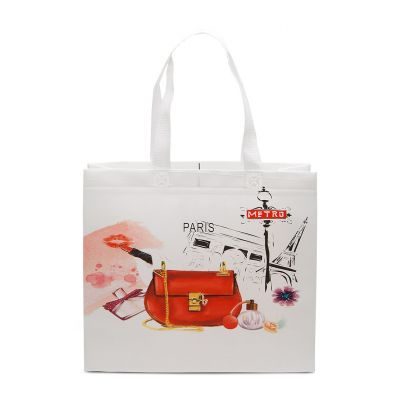 Heat Sealed laminated non woven shopping bag with handles