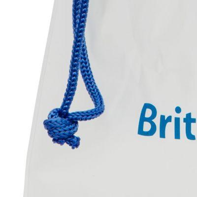 Sliding drawstring PVC bag for wet slippers