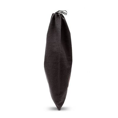 Brushed cotton shoebag with sliding drawstring