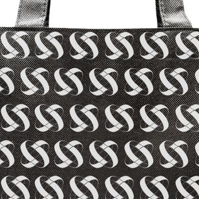 Non woven tote bag stitched with handles without gussets