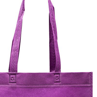 Non woven tote bags heat sealed with handles without gussets
